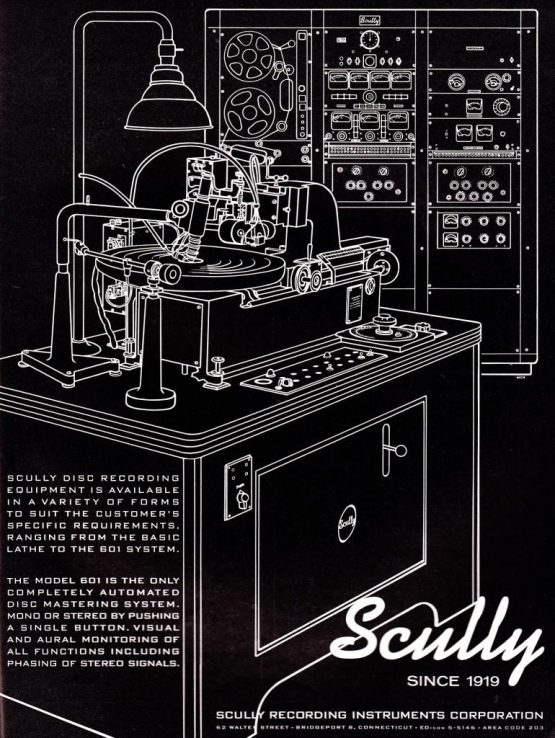The Scully 601 Vinyl Mastering Lathe Circa 1960