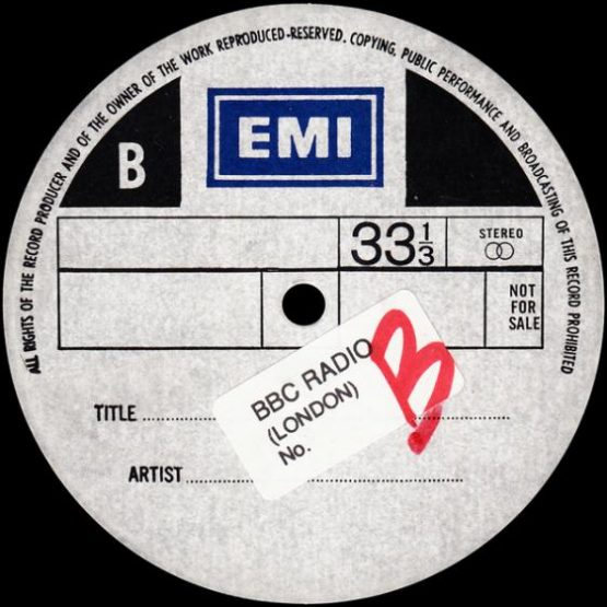 UK EMI 1980 TEST PRESS
