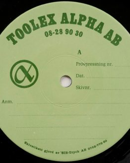 Toolex Alpha Test Press Vinyl
